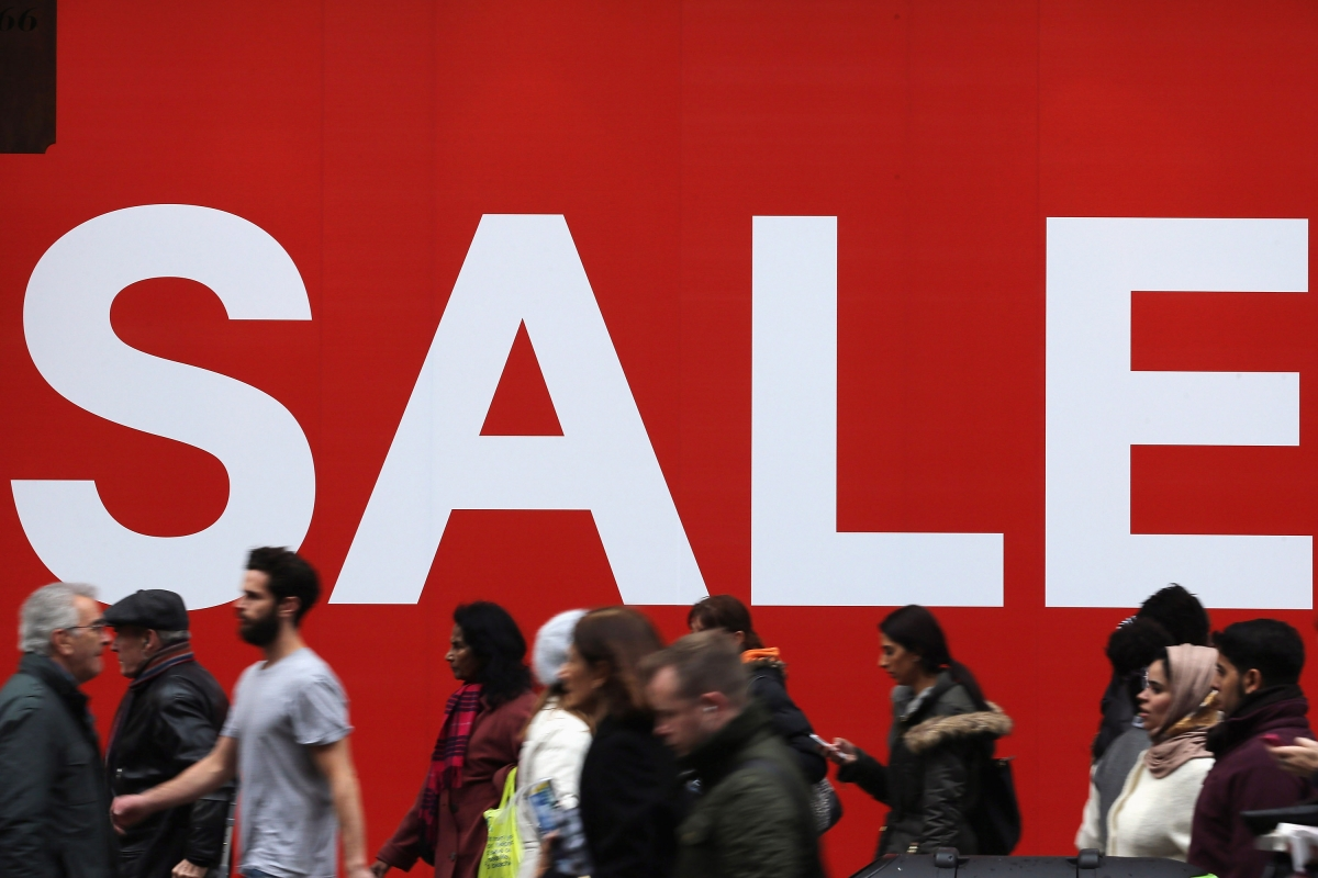 Sale on the high street
