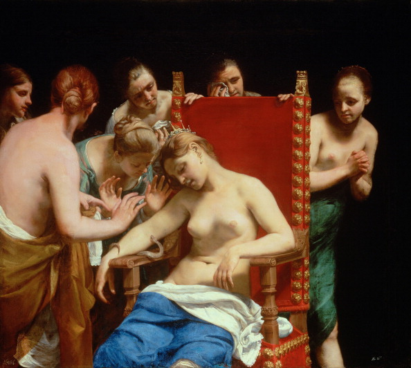 Cleopatra death painting