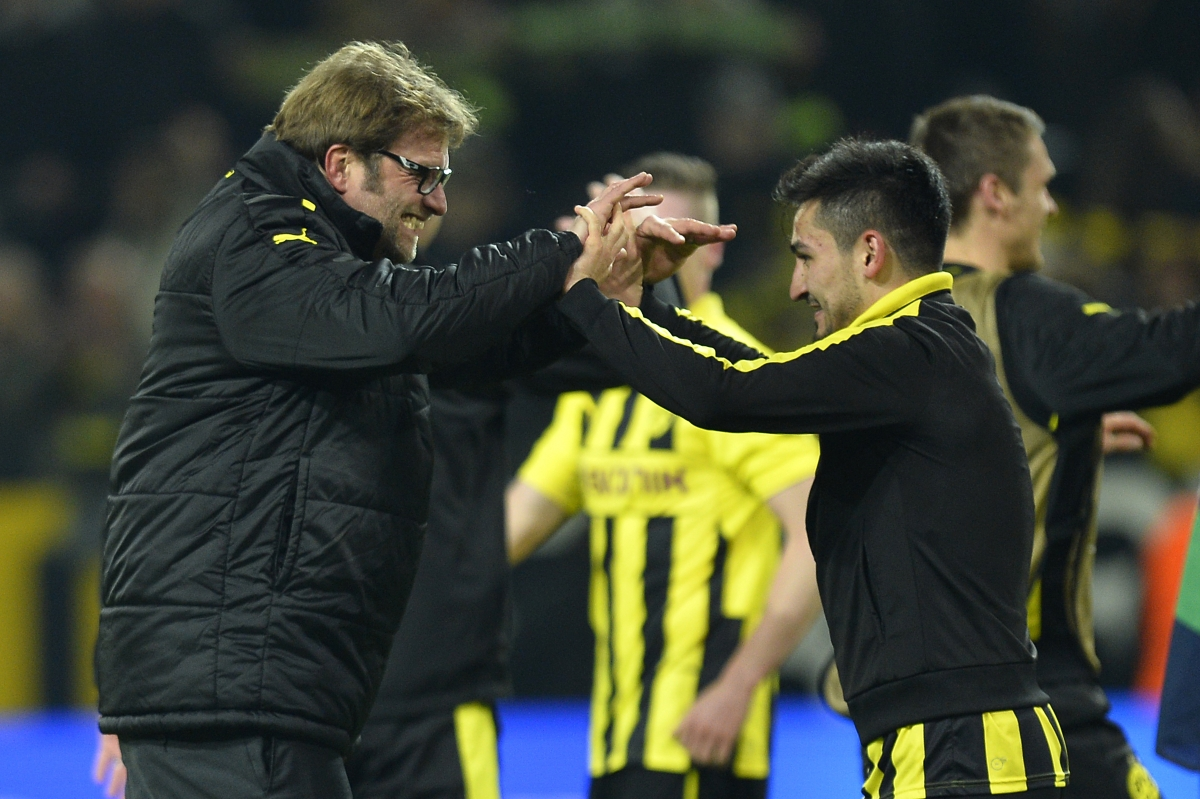 Jurgen Klopp and Ilkay Gundogan