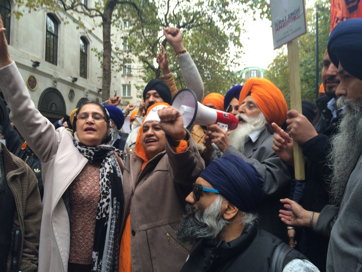 Sikh protests in central London
