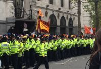 Heavy police presence at Sikh protest