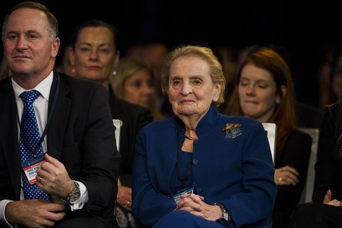 Madeline Albright and John Key