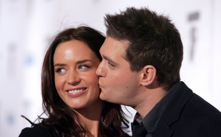 Michael bubl addresses emily blunt infidelity rumours it didnt emily blunt and michael bubl m4hsunfo