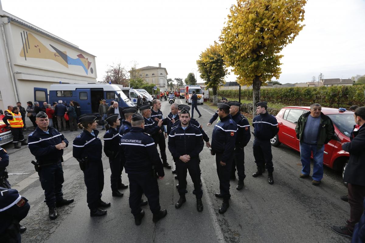 France truck bus crash Bordeaux Puisseguin