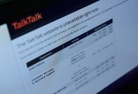 TalkTalk webiste shut down