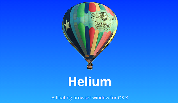 Helium app for Mac OS X