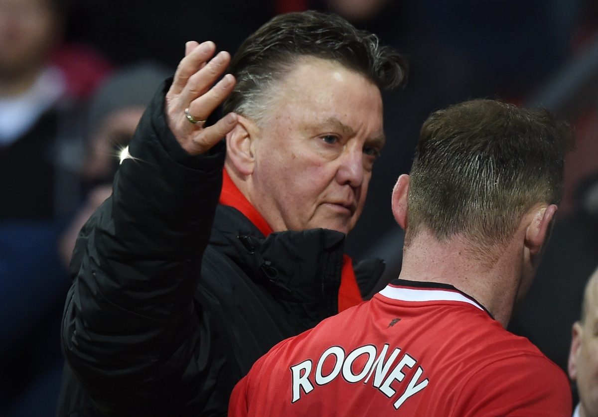 Louis van Gaal and Wayne Rooney