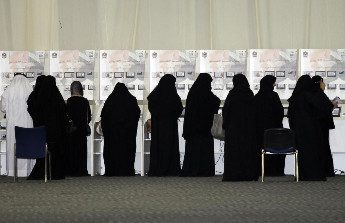 woman vote in Dubai