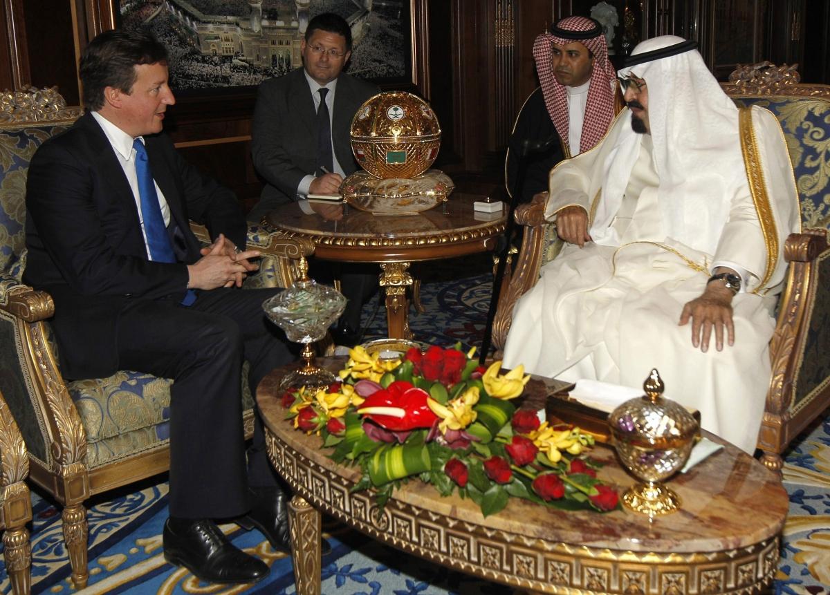 Saudi Arabia David Cameron King Abdullah