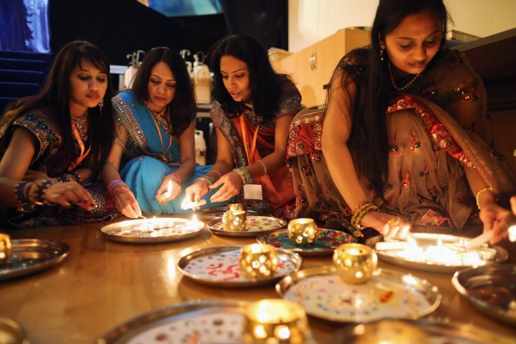Diwali celebrations in a London temple