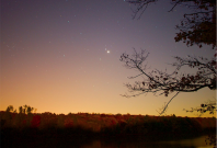 Venus Mars Jupiter rare alignment