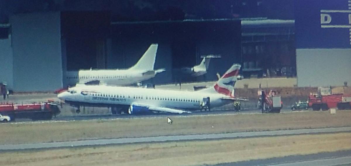 British Airways crash landing Johannesburg