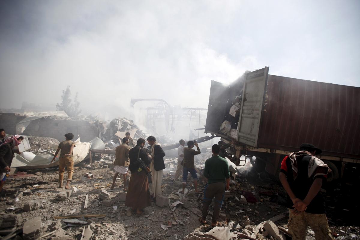 Yemen Saudi air strikes