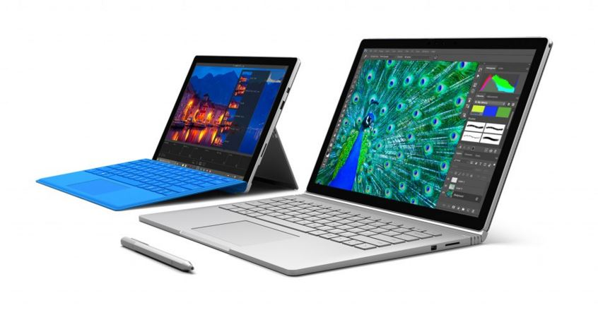 Microsoft Surface Pro 4 and Surface Book