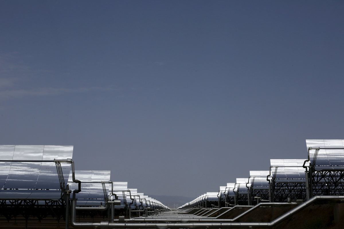 Solar panels in spain