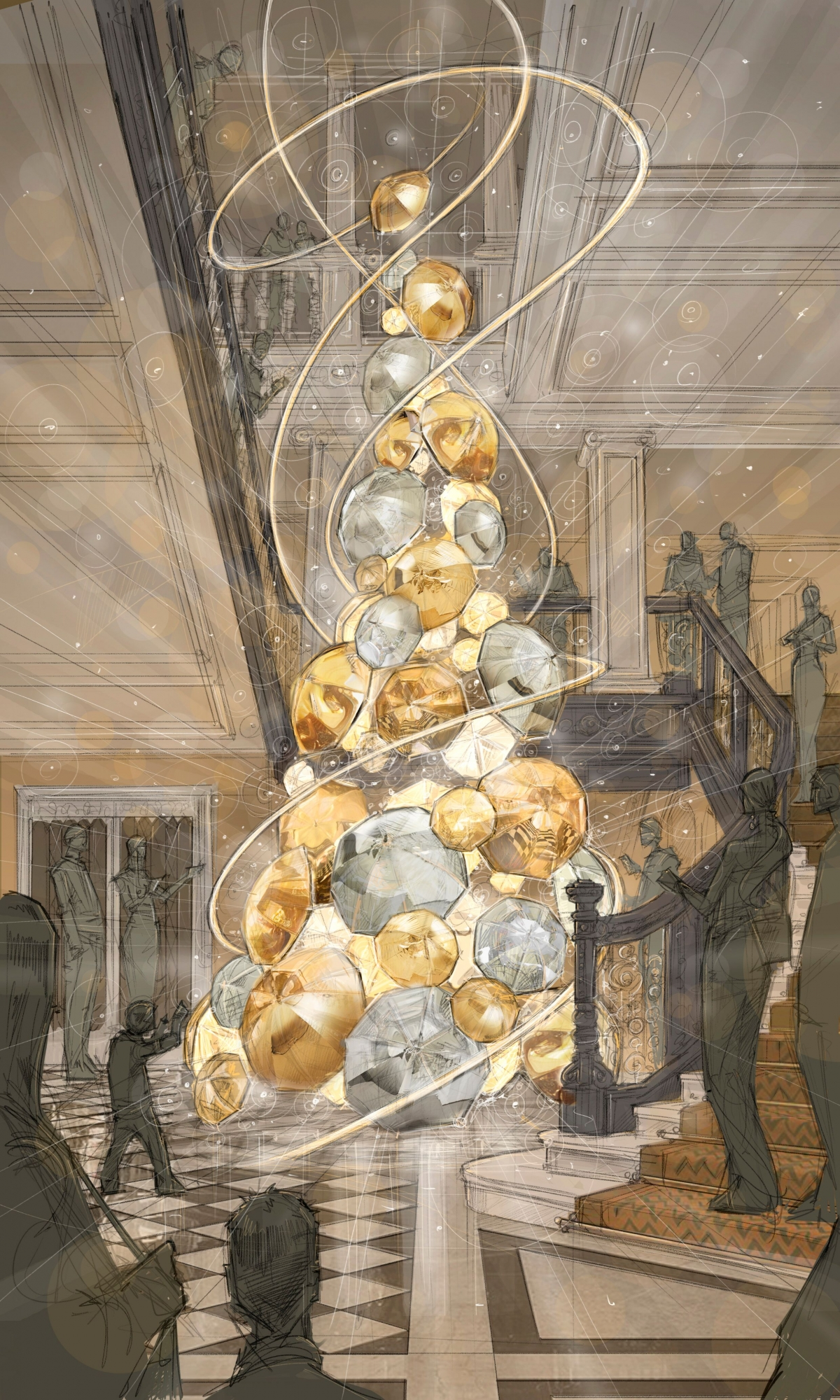 Which British designer is decorating Claridge's Christmas ...