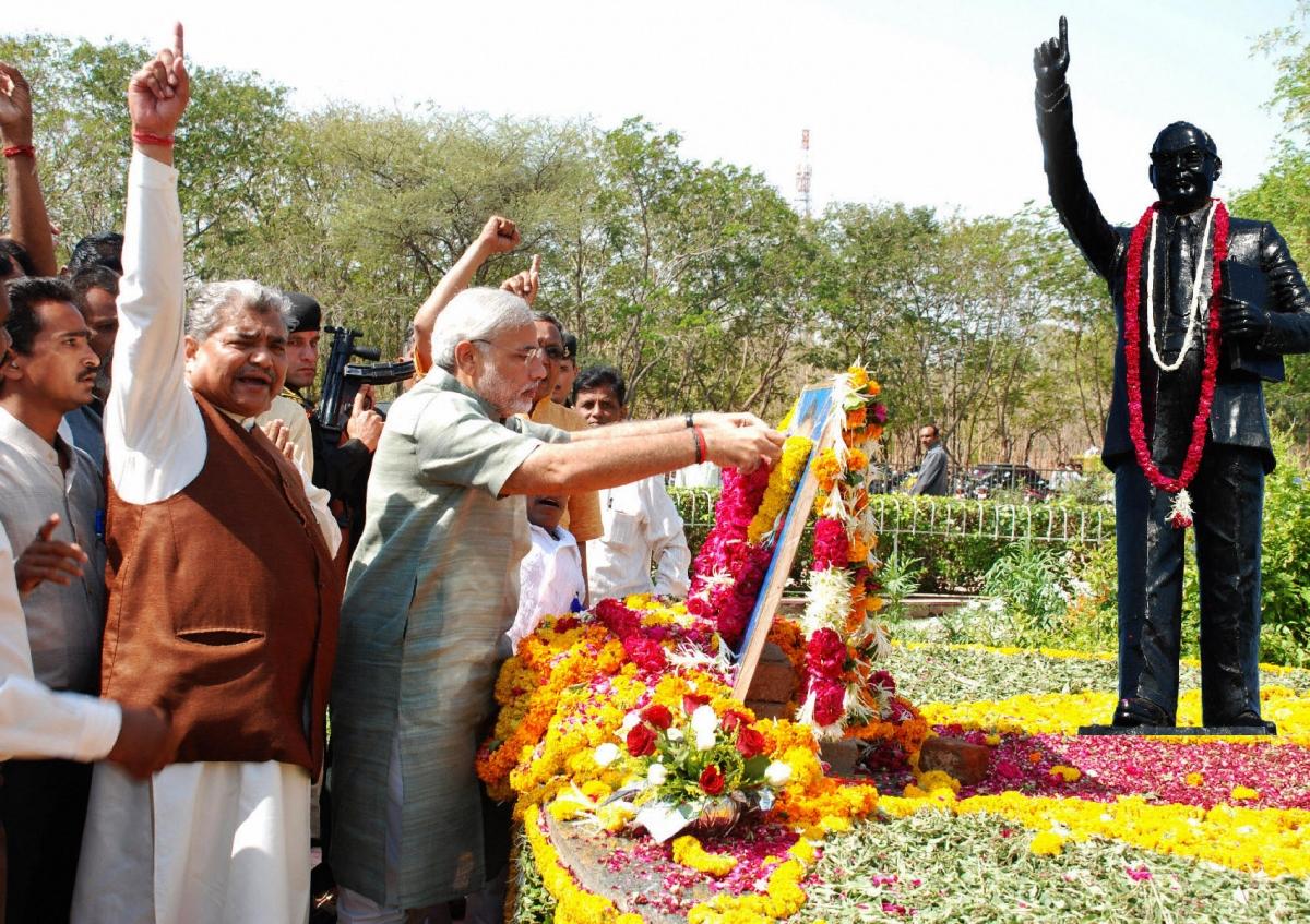 Narendra Modi pays tribute to B.R. Ambedkar