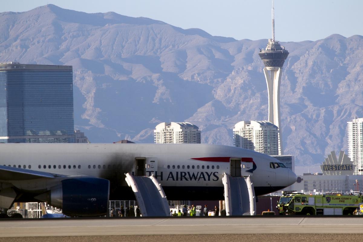 British Airways jet, Las Vegas