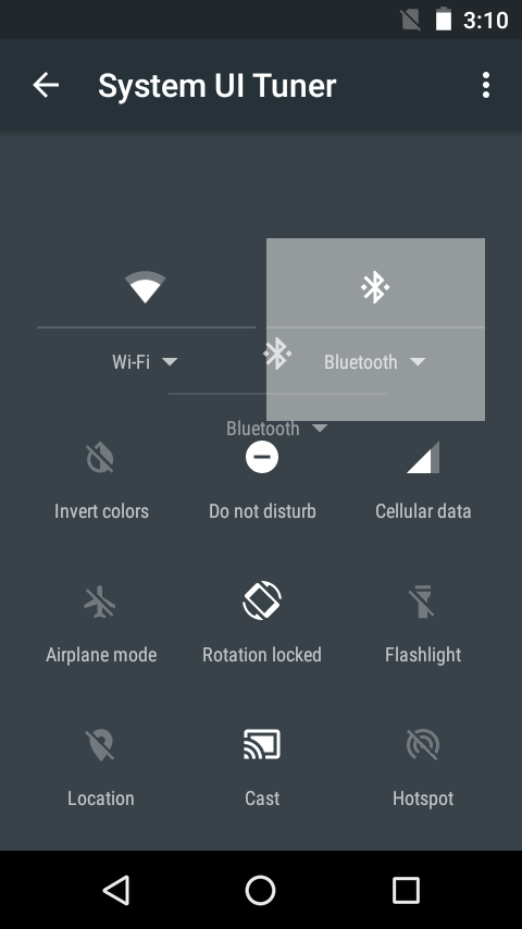 System UI Tuner on Android Marshmallow