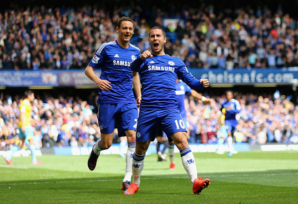 Eden Hazard and Nemanja Matic