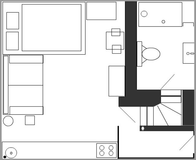 floor plan of studio flat