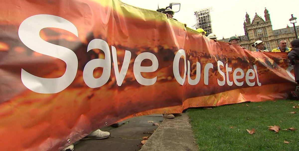 Steel: Protesters demand government help in the industry
