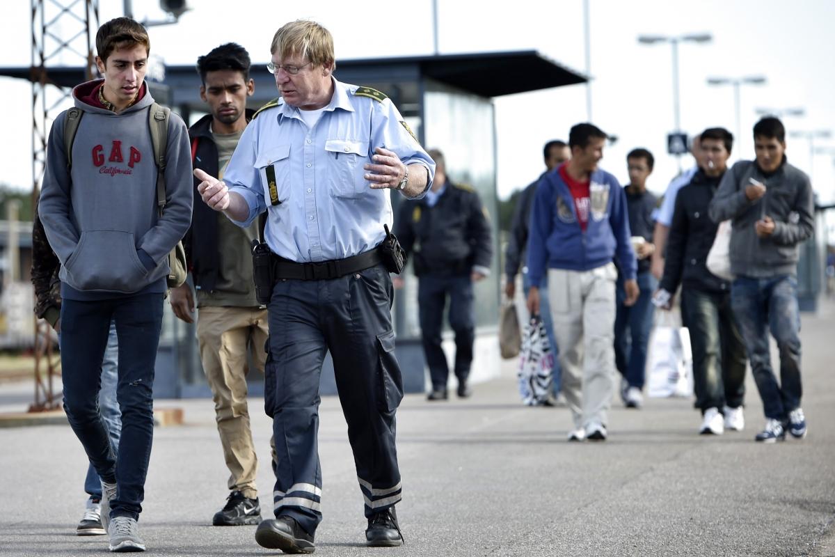 Immigrants arrive in Denmark