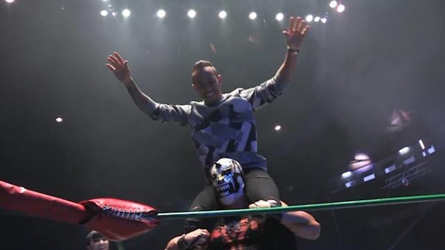 Lewis Hamilton wrestling