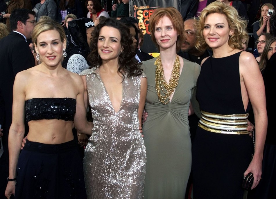 SEX IN THE CITY STARS ARRIVE FOR SCREEN ACTORS GUILD AWARDS.