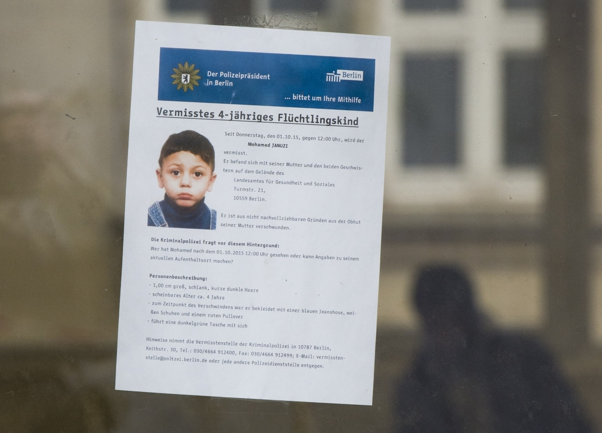 Mohamed Januzi Germany migrant child abducted