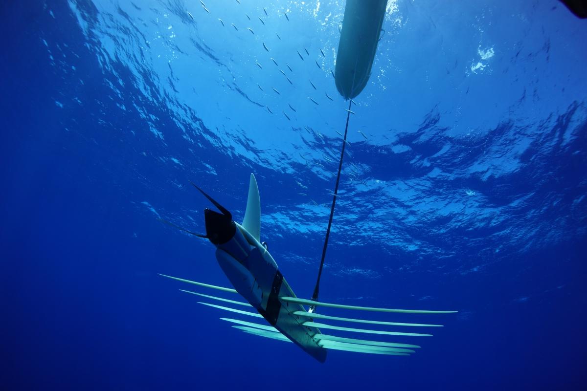 Liquid Robotics' Wave Glider underwater drone