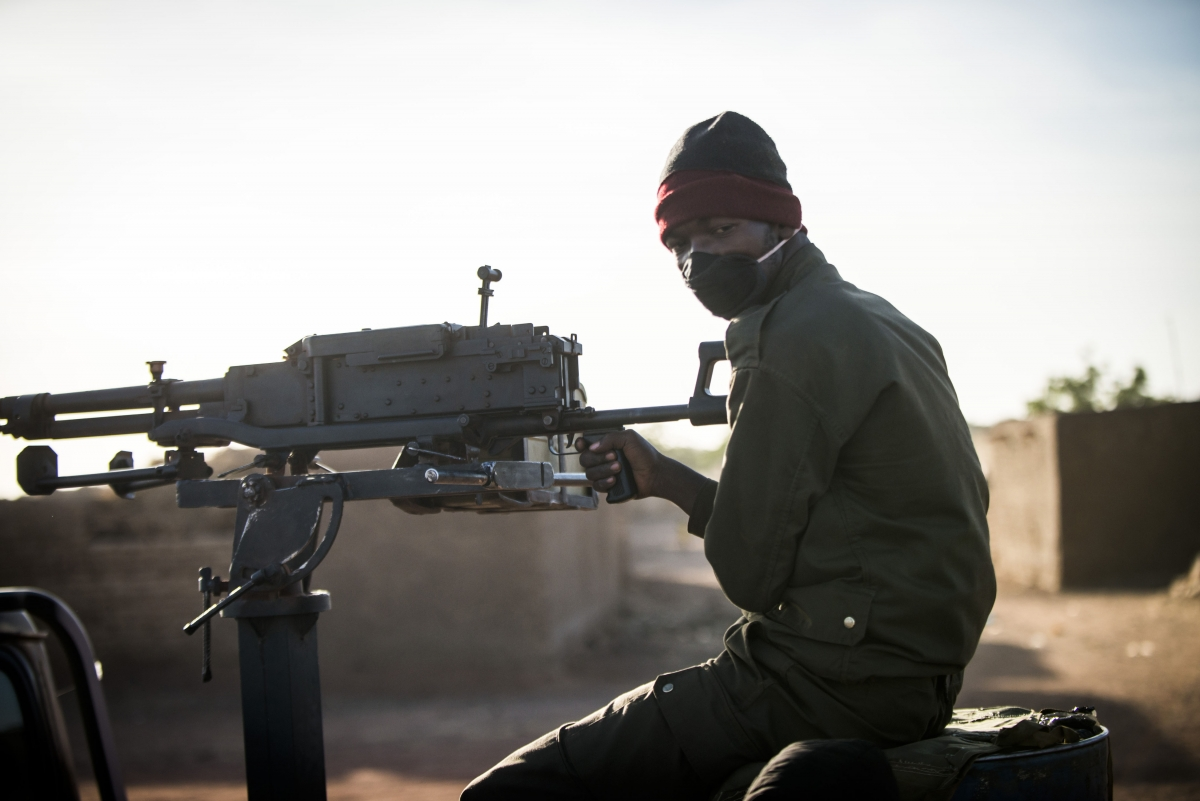 A Malian soldier in Mopti