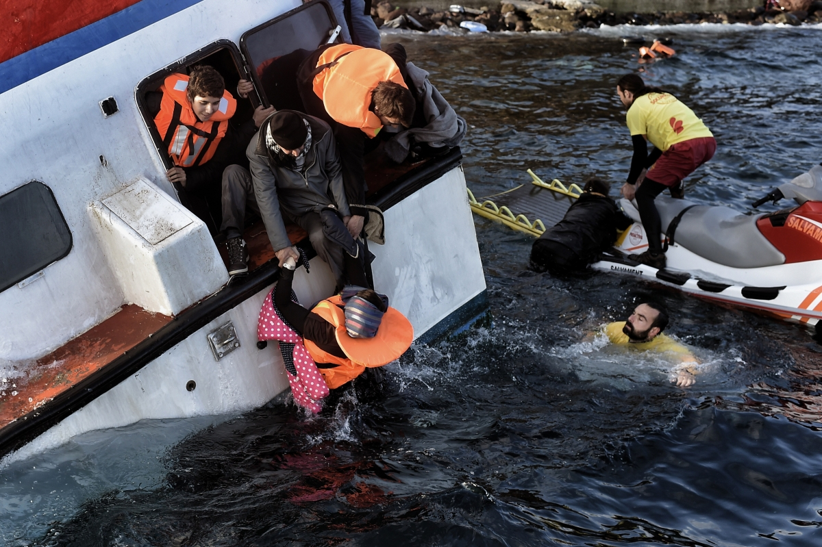 Boat sinks off Lesbos