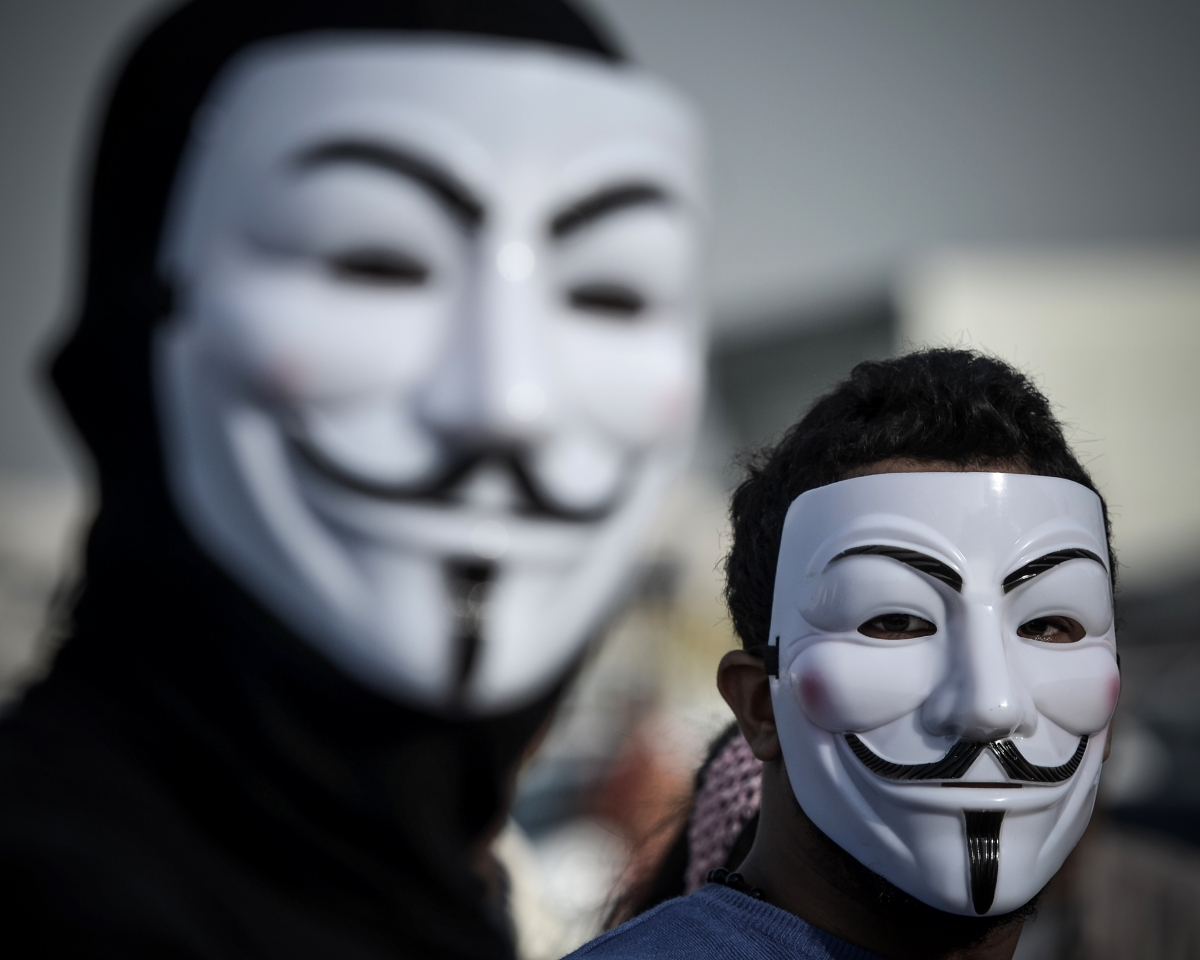 Anonymous France police hack
