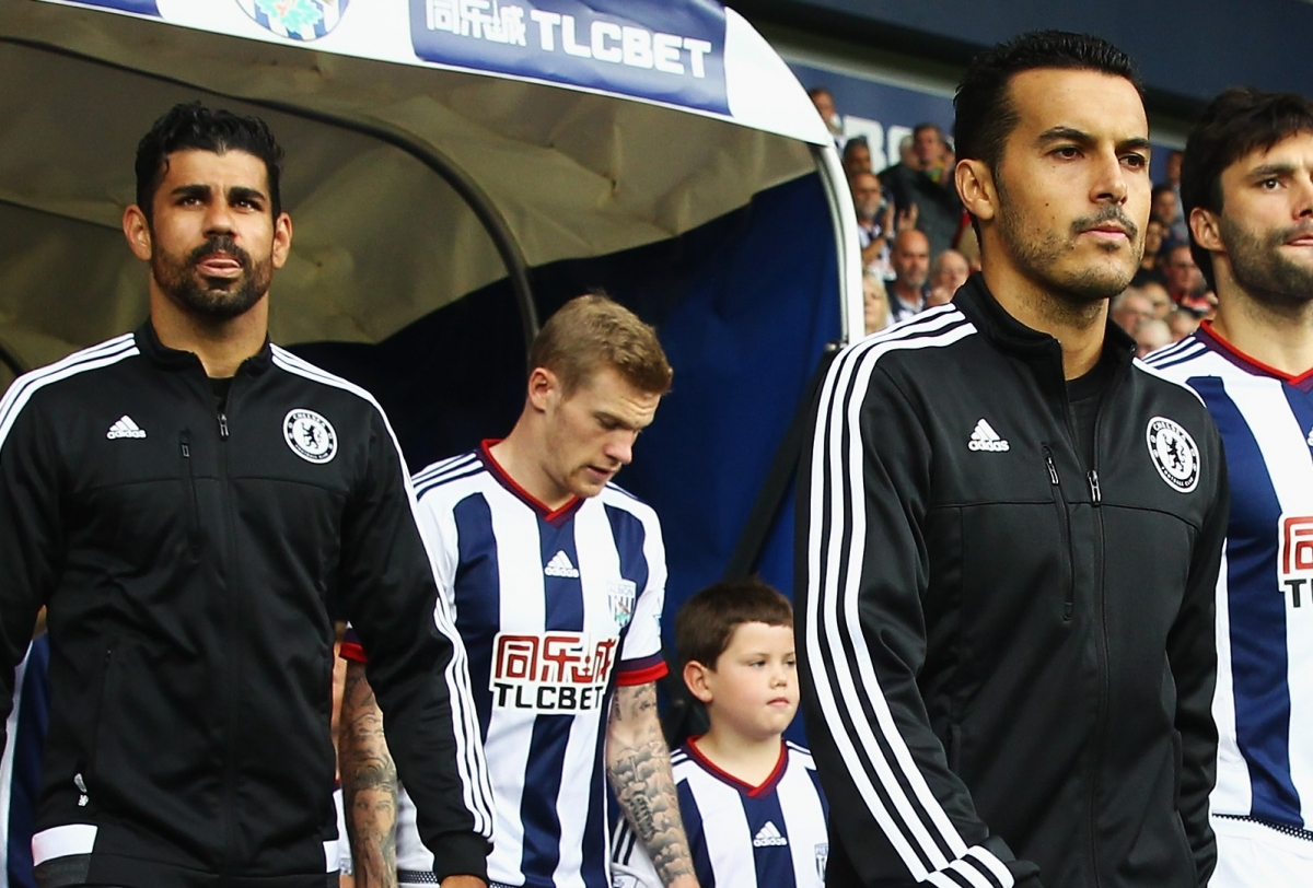 Diego Costa and Pedro