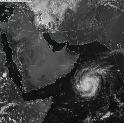 Cyclone Chapala across the Arabian Sea