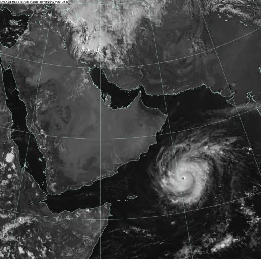 Cyclone Chapala across the Arabian Sea
