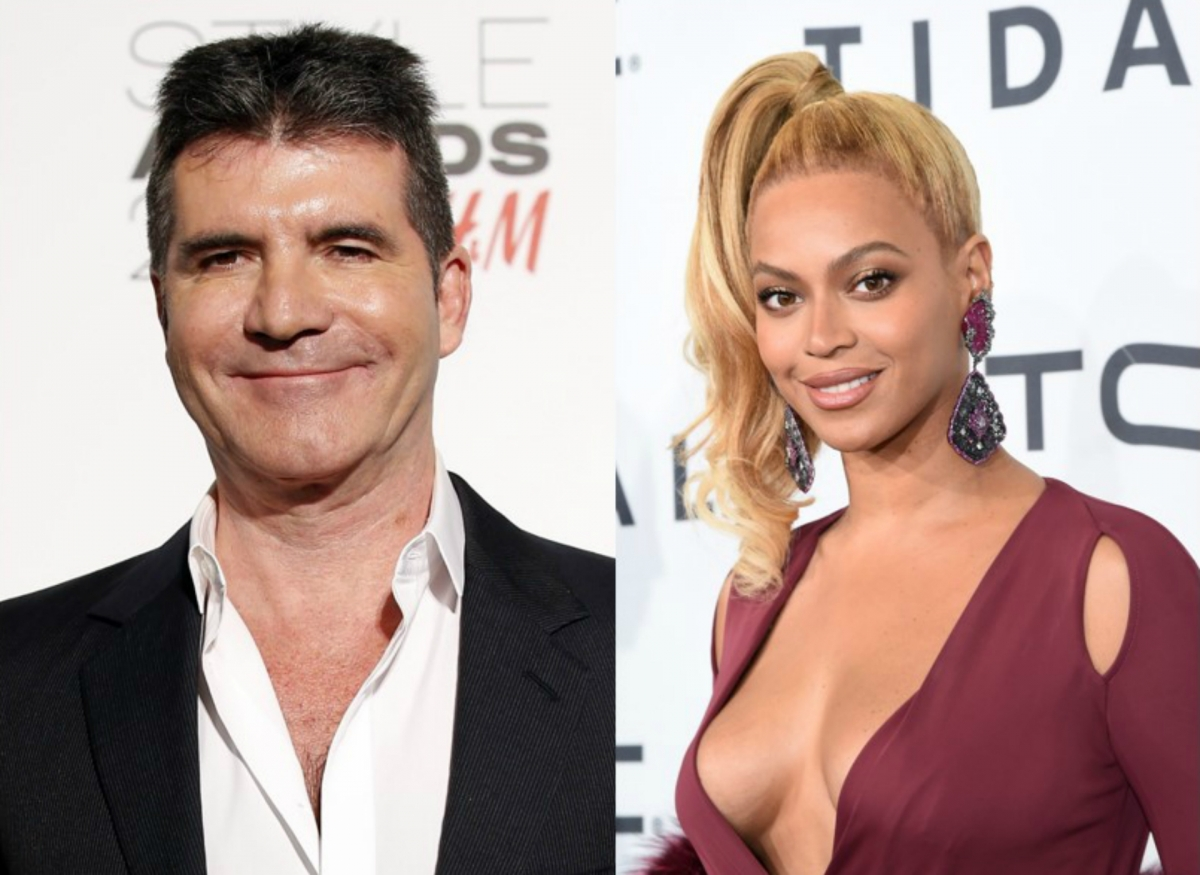 Beyonce and Simon Cowell