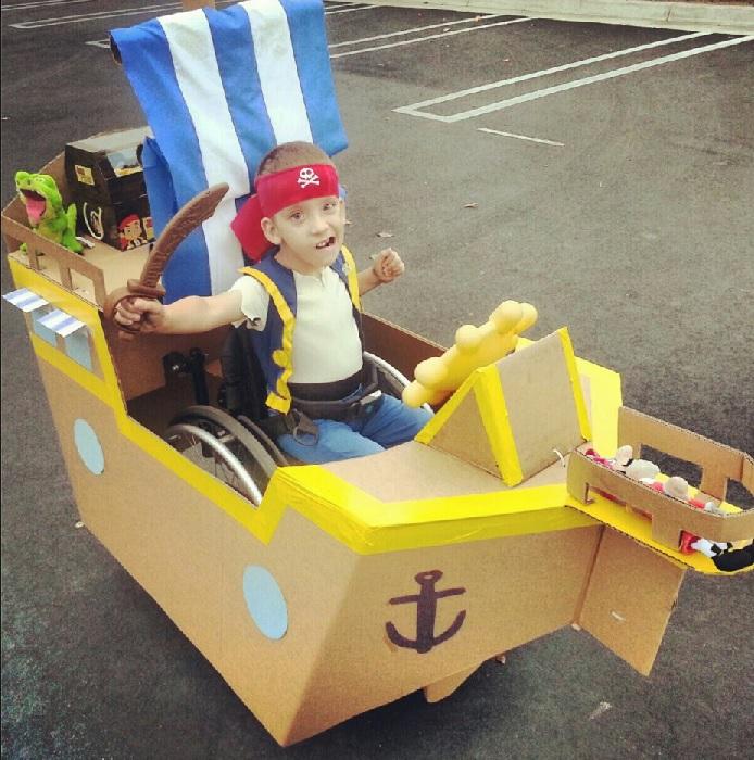 Jeremy as a pirate