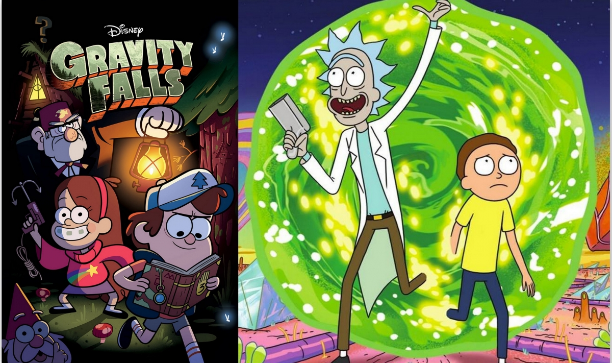rick and morty gravity falls crossover