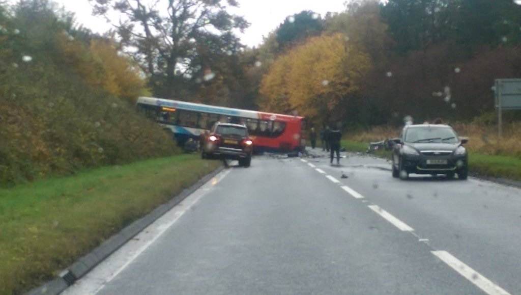 North Ayrshire bus crash