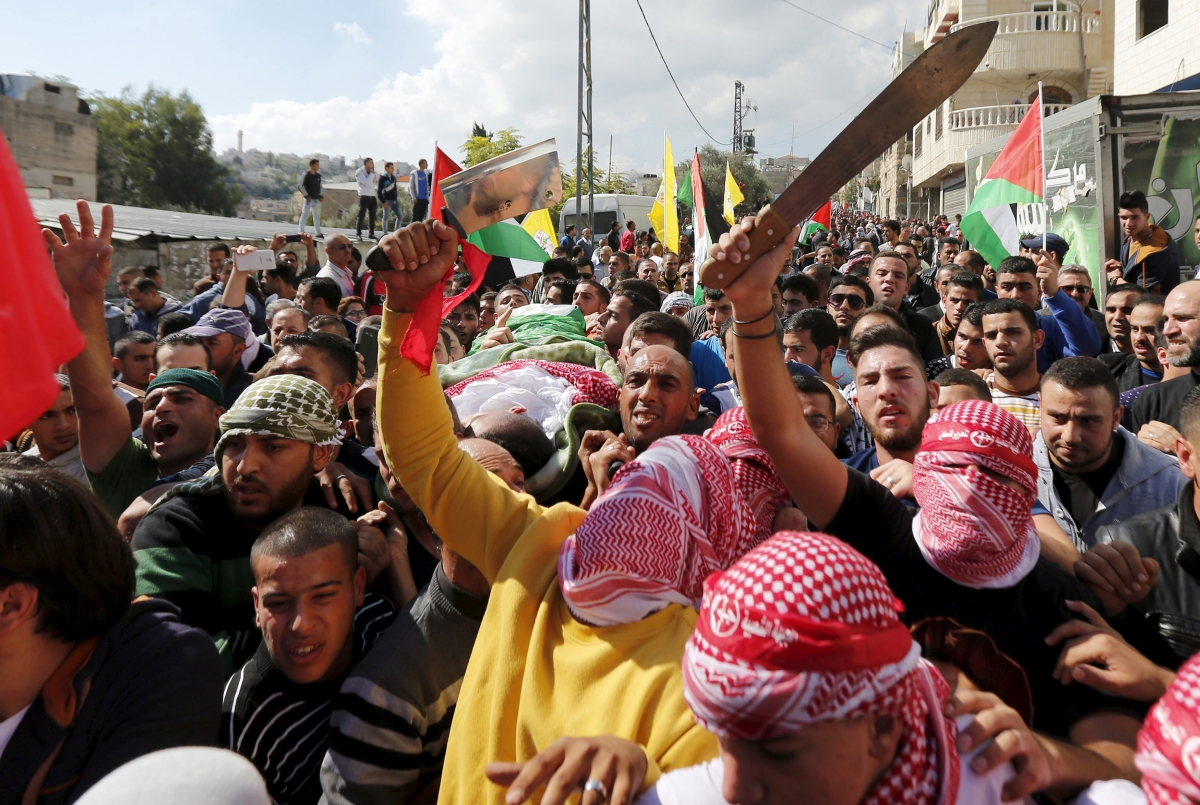 West Bank funeral Palestinian attacker