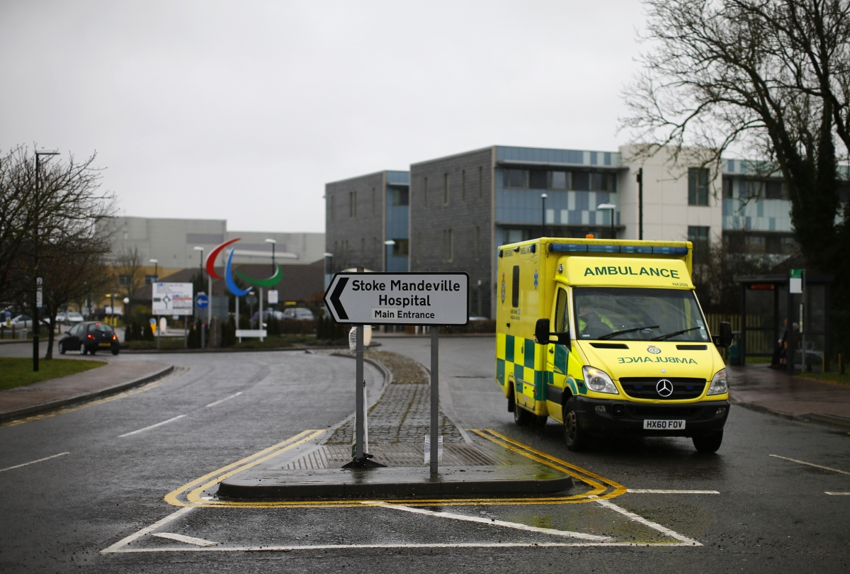 Ambulance leaves hospital
