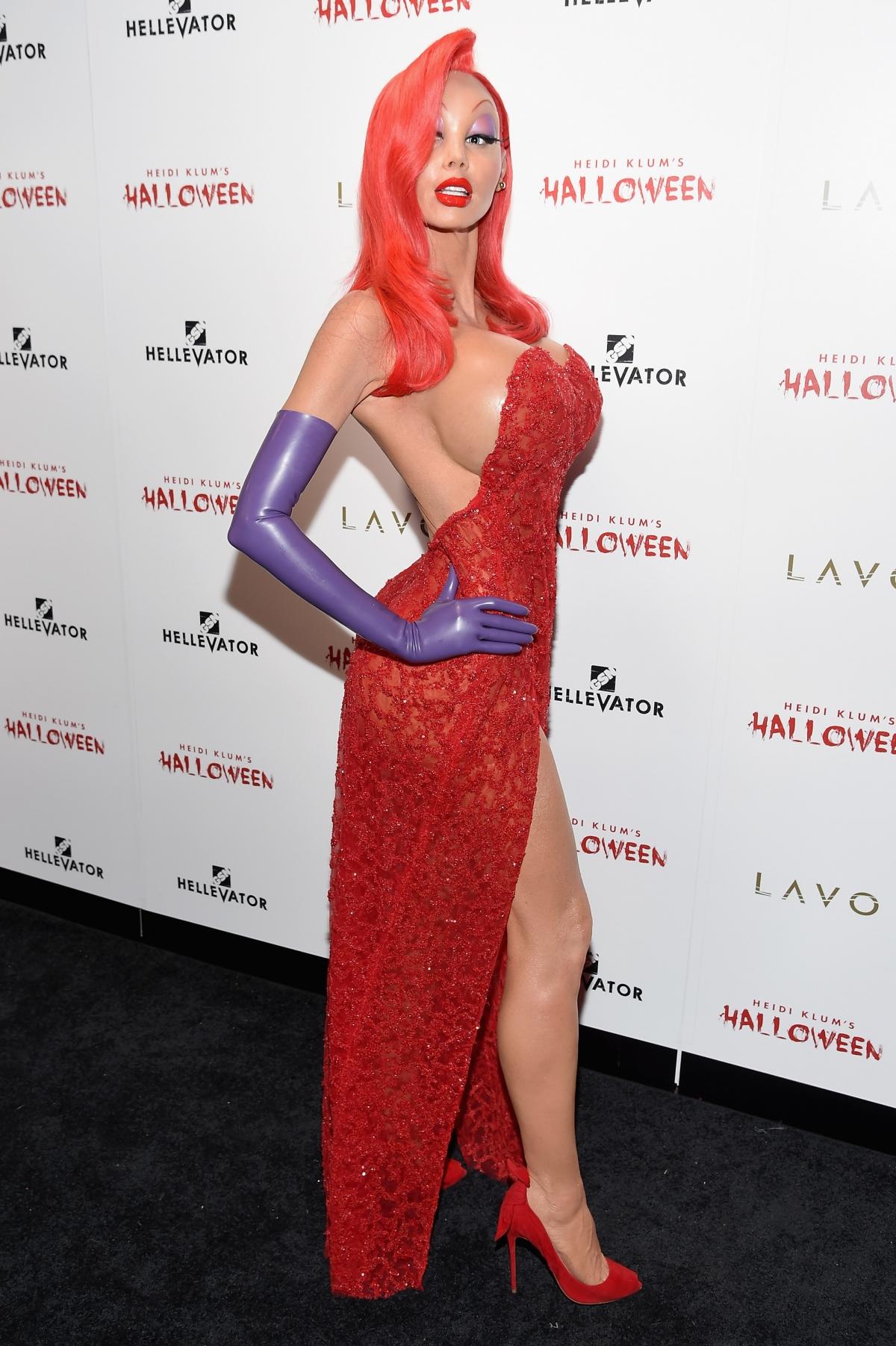 Halloween 2016: Heidi Klum and her five clones wear nude bodysuit ...
