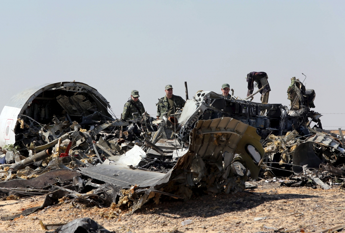 Egypt crash wreckage