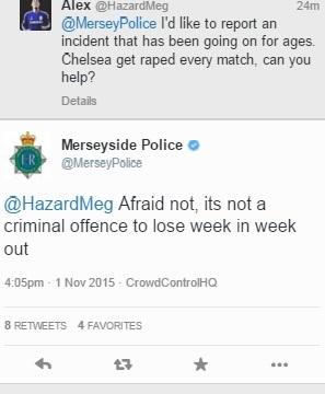 Merseyside Police rape tweet