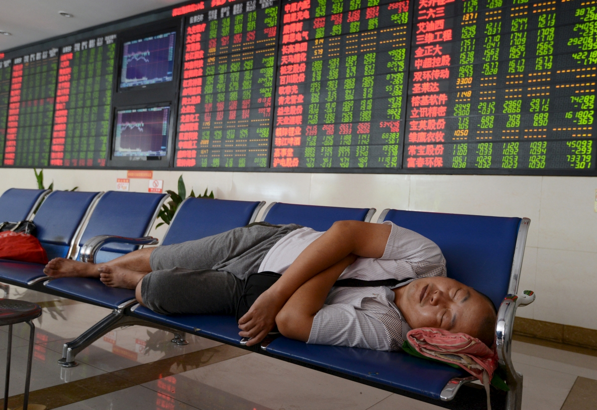 Asian markets in the red in response to weak Chinese factory data; oil gains