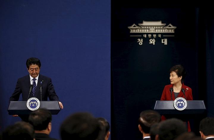 Park Geun-hye  and  Shinzo Abe