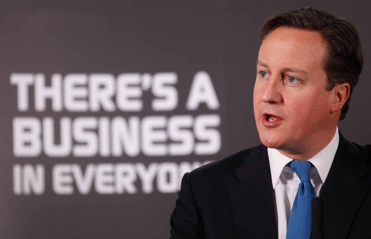 David Cameron addresses entrepreneurs