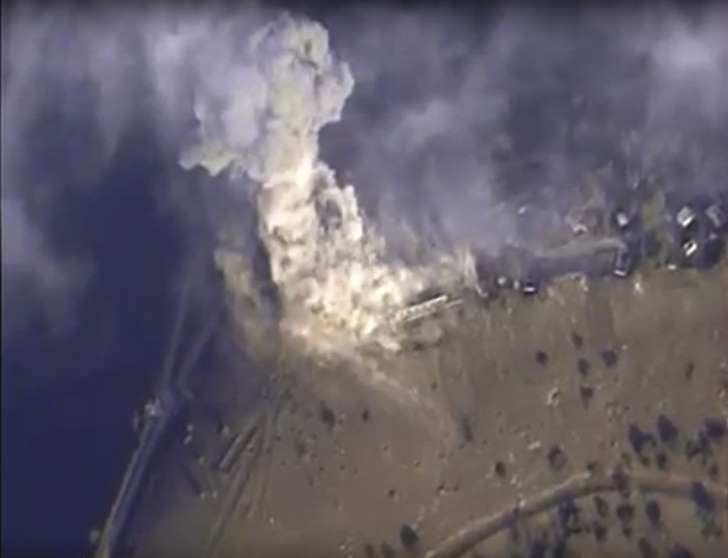 russian warplanes bomb Palmyra